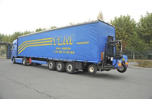 chariot élévateur embarqué TLM Transports